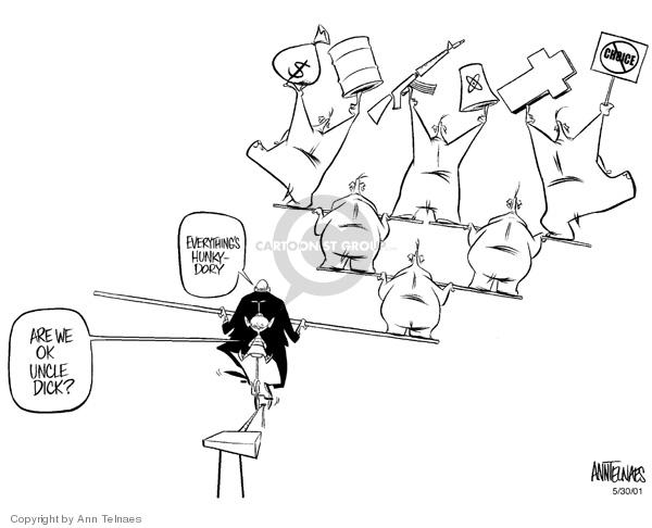 Cartoonist Ann Telnaes  Ann Telnaes' Editorial Cartoons 2001-05-30 vice president