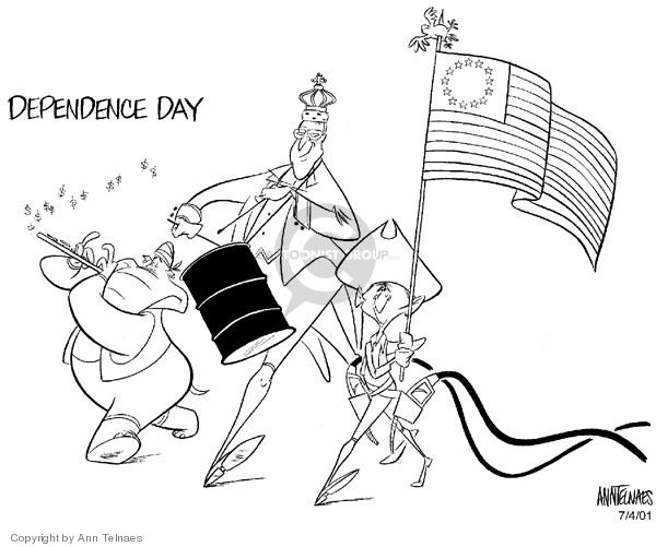 Ann Telnaes  Ann Telnaes' Editorial Cartoons 2001-07-04 oil supply