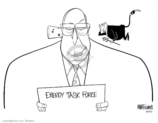Cartoonist Ann Telnaes  Ann Telnaes' Editorial Cartoons 2002-03-28 Cheney energy task force
