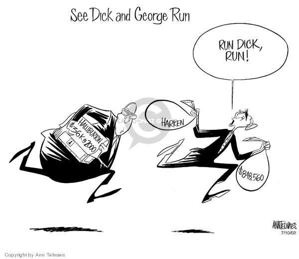 Ann Telnaes  Ann Telnaes' Editorial Cartoons 2002-07-10 corruption