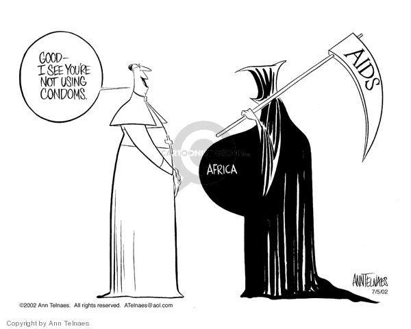Ann Telnaes  Ann Telnaes' Editorial Cartoons 2002-07-05 grim reaper