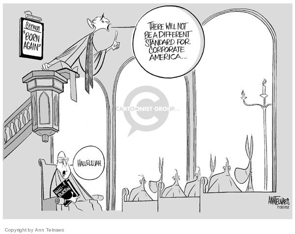 Cartoonist Ann Telnaes  Ann Telnaes' Editorial Cartoons 2002-07-30 congressional oversight