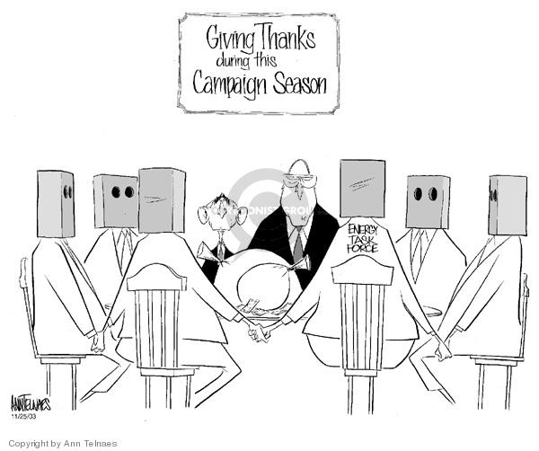 Cartoonist Ann Telnaes  Ann Telnaes' Editorial Cartoons 2003-11-25 vice president