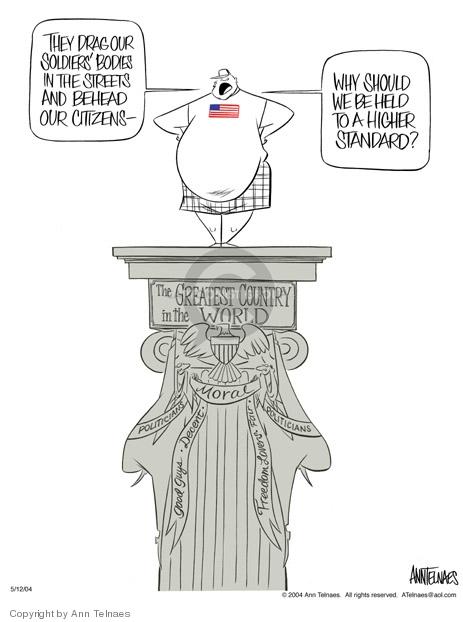 Ann Telnaes  Ann Telnaes' Editorial Cartoons 2004-05-12 patriotism