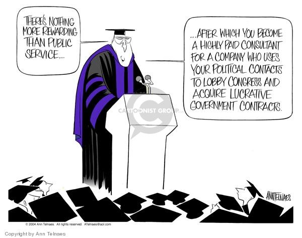 Ann Telnaes  Ann Telnaes' Editorial Cartoons 2004-05-25 Dick Cheney