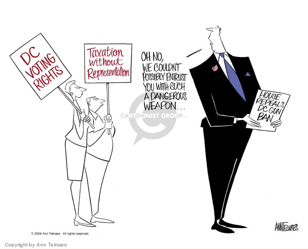 Cartoonist Ann Telnaes  Ann Telnaes' Editorial Cartoons 2004-09-29 disenfranchisement