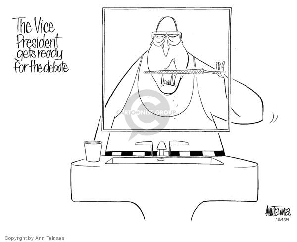 Cartoonist Ann Telnaes  Ann Telnaes' Editorial Cartoons 2004-10-04 vice-presidential debate