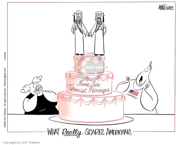 Ann Telnaes  Ann Telnaes' Editorial Cartoons 2004-11-04 homosexual