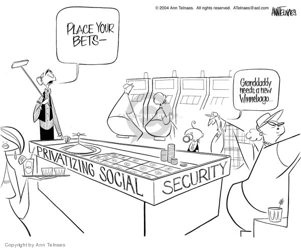 Cartoonist Ann Telnaes  Ann Telnaes' Editorial Cartoons 2004-12-02 home security
