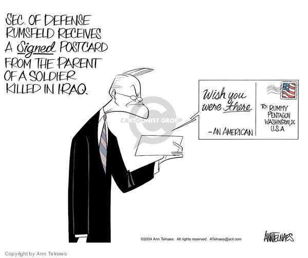 Ann Telnaes  Ann Telnaes' Editorial Cartoons 2004-12-22 present