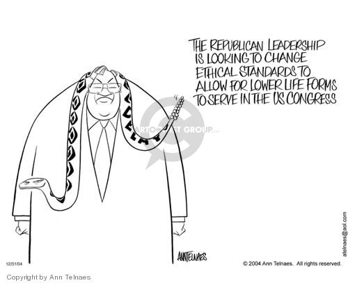 Ann Telnaes  Ann Telnaes' Editorial Cartoons 2004-12-31 political corruption