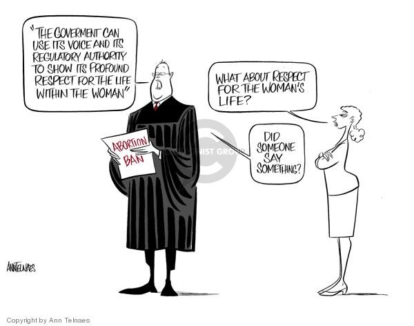 Ann Telnaes  Ann Telnaes' Editorial Cartoons 2007-04-21 pro-life