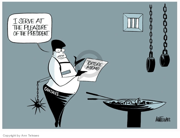 Ann Telnaes  Ann Telnaes' Editorial Cartoons 2007-10-05 Justice Department