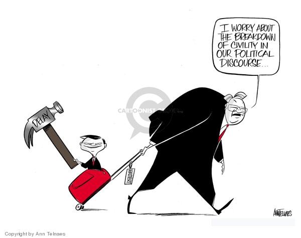 Ann Telnaes  Ann Telnaes' Editorial Cartoons 2007-11-16 partisan politics