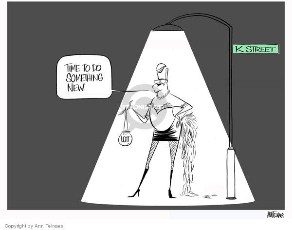 Ann Telnaes  Ann Telnaes' Editorial Cartoons 2007-11-27 whip