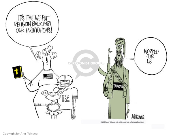 Ann Telnaes  Ann Telnaes' Editorial Cartoons 2001-10-28 terrorism