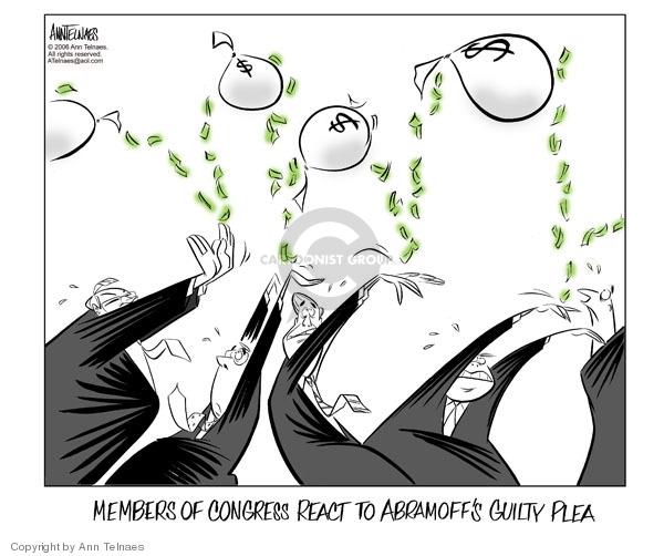 Cartoonist Ann Telnaes  Ann Telnaes' Editorial Cartoons 2006-01-04 unethical