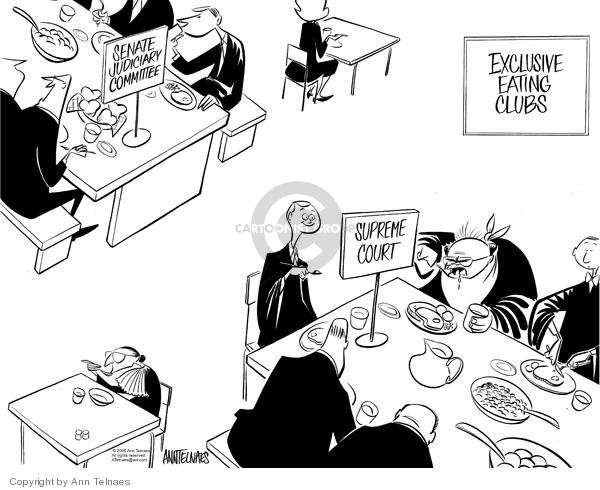 Cartoonist Ann Telnaes  Ann Telnaes' Editorial Cartoons 2006-01-13 senate