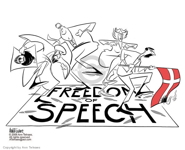 Ann Telnaes  Ann Telnaes' Editorial Cartoons 2006-02-02 civil liberty
