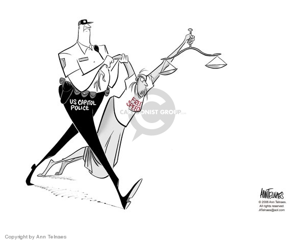 Cartoonist Ann Telnaes  Ann Telnaes' Editorial Cartoons 2006-02-03 police