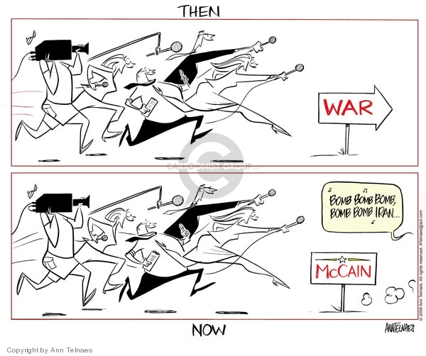Cartoonist Ann Telnaes  Ann Telnaes' Editorial Cartoons 2008-02-06 foreign policy