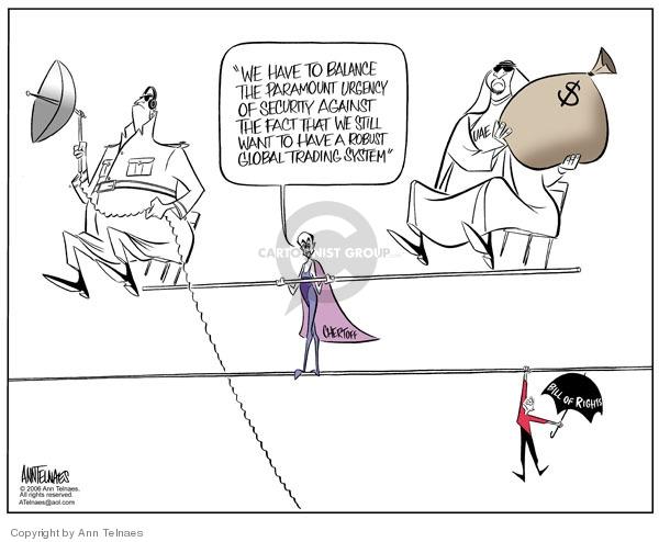 Cartoonist Ann Telnaes  Ann Telnaes' Editorial Cartoons 2006-02-22 Michael Chertoff