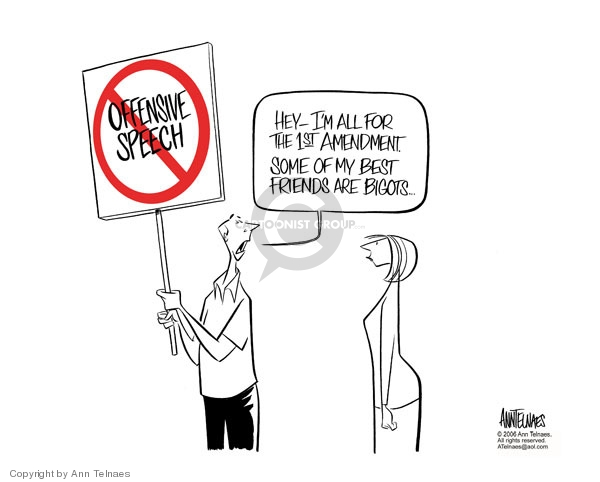 Cartoonist Ann Telnaes  Ann Telnaes' Editorial Cartoons 2006-02-23 first amendment