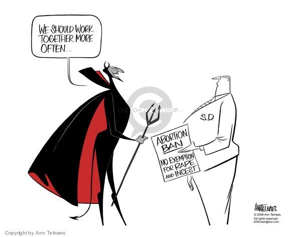 Ann Telnaes  Ann Telnaes' Editorial Cartoons 2006-02-24 South Dakota