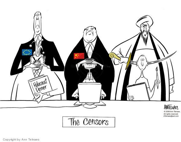 Ann Telnaes  Ann Telnaes' Editorial Cartoons 2006-02-28 Europe