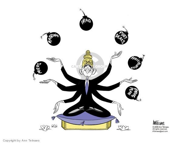 Ann Telnaes  Ann Telnaes' Editorial Cartoons 2006-03-03 Bush administration