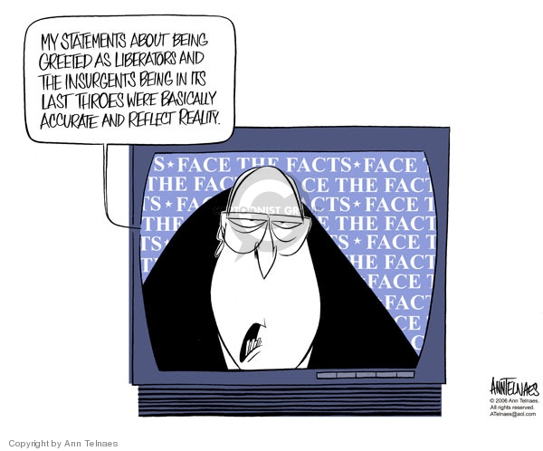 Cartoonist Ann Telnaes  Ann Telnaes' Editorial Cartoons 2006-03-20 vice president