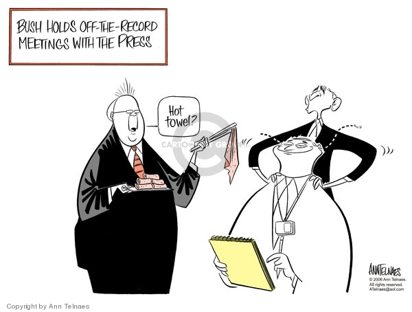 Ann Telnaes  Ann Telnaes' Editorial Cartoons 2006-03-30 Bush administration