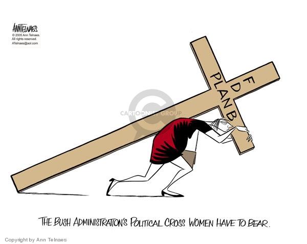 Ann Telnaes  Ann Telnaes' Editorial Cartoons 2005-11-15 Bush administration