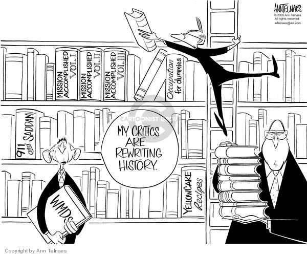 Ann Telnaes  Ann Telnaes' Editorial Cartoons 2005-11-16 WMD