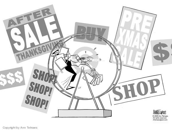 Cartoonist Ann Telnaes  Ann Telnaes' Editorial Cartoons 2005-11-23 Christmas