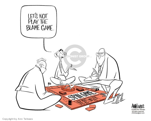 Ann Telnaes  Ann Telnaes' Editorial Cartoons 2005-09-06 blame