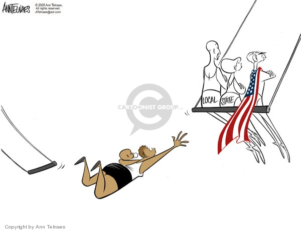 Ann Telnaes  Ann Telnaes' Editorial Cartoons 2005-09-11 disaster