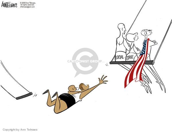 Ann Telnaes  Ann Telnaes' Editorial Cartoons 2005-09-11 disaster
