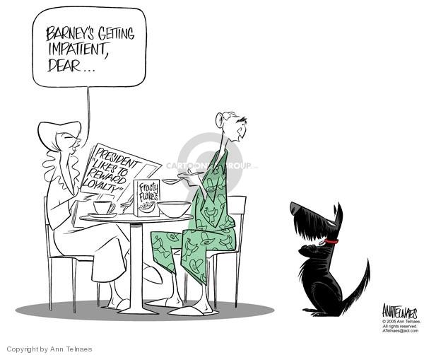 Ann Telnaes  Ann Telnaes' Editorial Cartoons 2005-10-04 Bush loyalty