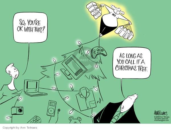 Cartoonist Ann Telnaes  Ann Telnaes' Editorial Cartoons 2005-12-24 Christmas