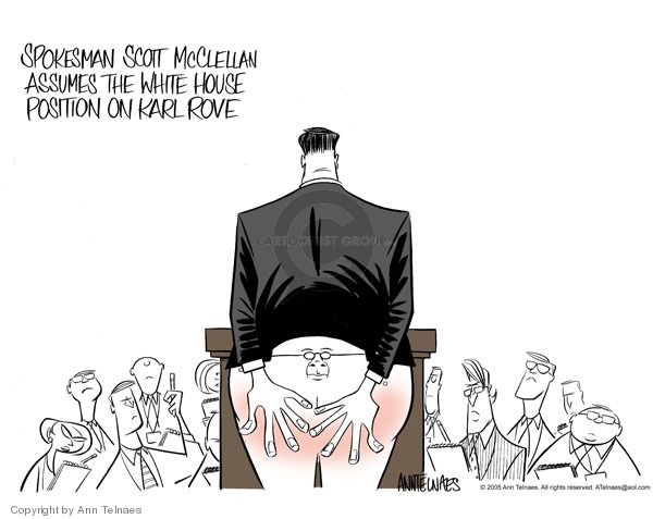 Cartoonist Ann Telnaes  Ann Telnaes' Editorial Cartoons 2005-07-12 Scott McClellan