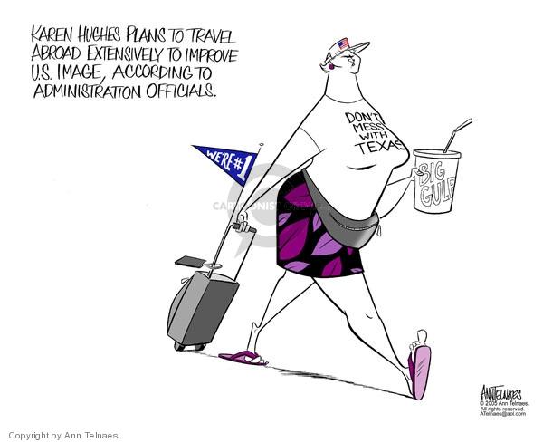 Cartoonist Ann Telnaes  Ann Telnaes' Editorial Cartoons 2005-07-26 foreign