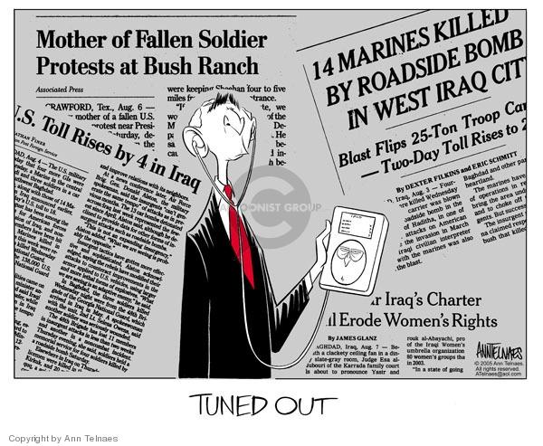 Ann Telnaes  Ann Telnaes' Editorial Cartoons 2005-08-10 Marines