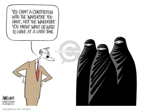 Cartoonist Ann Telnaes  Ann Telnaes' Editorial Cartoons 2005-08-24 Constitution