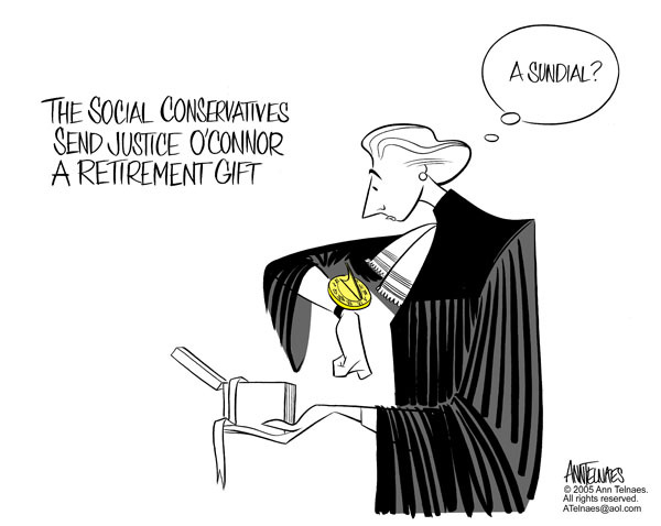 Ann Telnaes  Ann Telnaes' Editorial Cartoons 2005-07-05 retirement