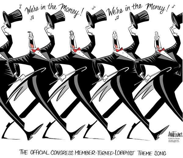 Cartoonist Ann Telnaes  Ann Telnaes' Editorial Cartoons 2005-06-24 political lobby
