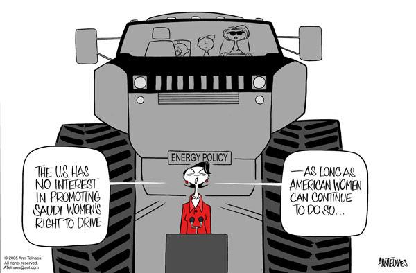 Ann Telnaes  Ann Telnaes' Editorial Cartoons 2005-06-23 energy consumption