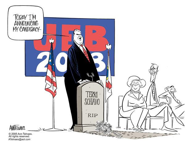 Ann Telnaes  Ann Telnaes' Editorial Cartoons 2005-06-21 support