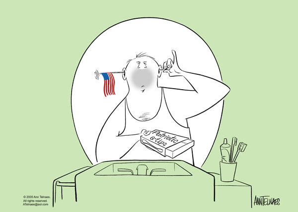 Ann Telnaes  Ann Telnaes' Editorial Cartoons 2005-06-14 patriotic