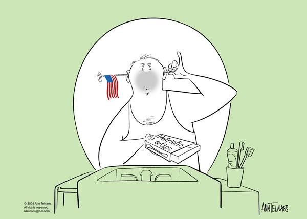 Ann Telnaes  Ann Telnaes' Editorial Cartoons 2005-06-14 patriotism